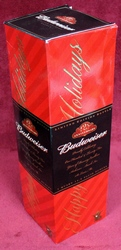 2001 Budweiser Holiday Edition 125th Anniversary Quart Bottle Beer