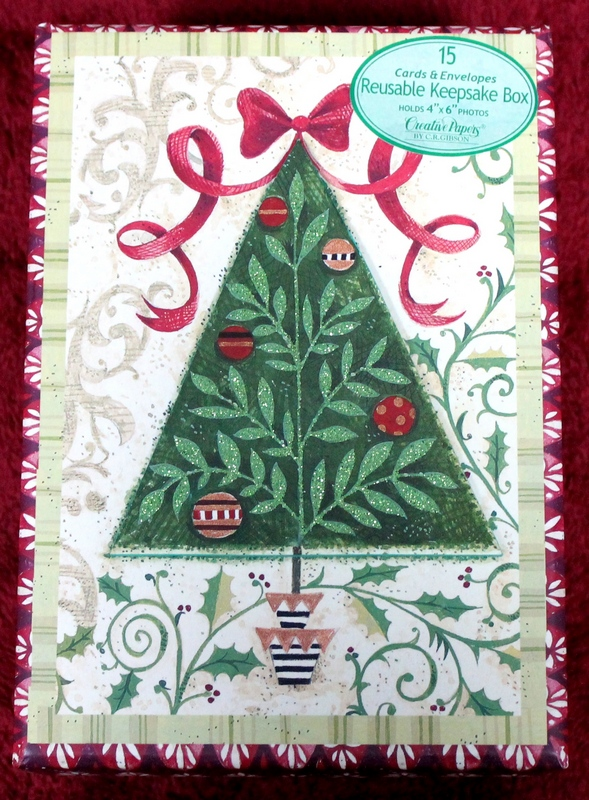 Creative Papers by C.R. Gibson - 15 Christmas Cards and Envelopes in Reusable Keepsake Box