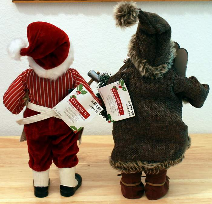 2 Christmas Treasured Santas from Michael's