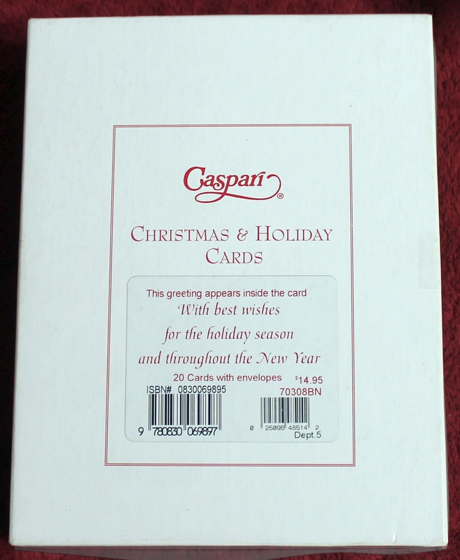 20 Caspari Christmas and Holiday Cards Brand New Sealed - 70308BN