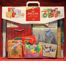 24 Deluxe Holiday Gift Bags New in Plastic Package from Crystal Creative Products