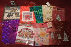 Lot of 35 assorted Holiday-Christmas Gift Bags