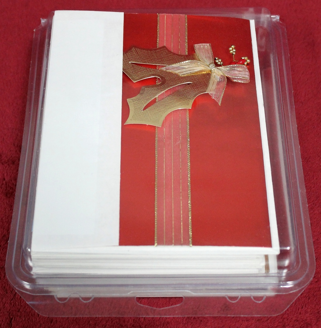 56 Deluxe Christmas Cards with matching envelopes in Sealed Plastic ...