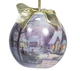Example of one of the Christmas 2002 Ornaments by Thomas Kinkade