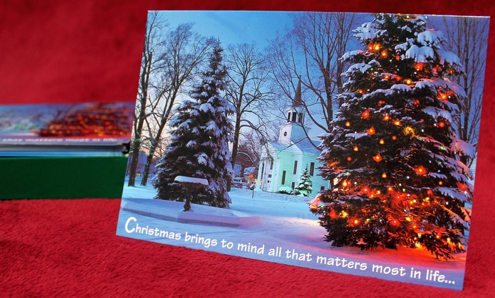Abbey Press 53053 Christmas Cards Christmas Brings to Mind All That Matters Most in Life