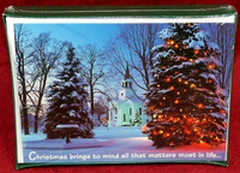 Classic Abbey Press 53053 Christmas Cards - Christmas Brings to Mind All That Matters Most in Life... ...and we realize that the things which matter most aren't really -things- at all.  Blessings to you and all who have a special place in your heart.