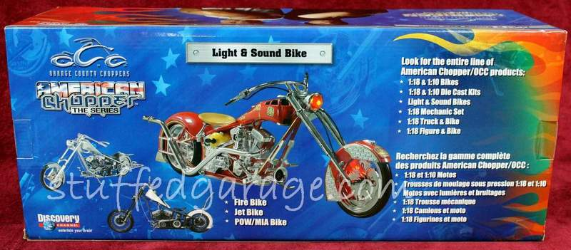 American Chopper Light & Sound Fire Bike Rear View of Box