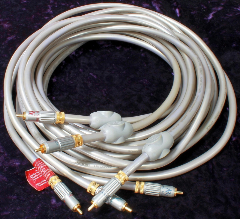AR - Acoustic Research Master Series Silver High Definition Component Video Cables (3) - 12' Length