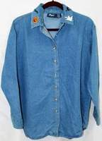 Argee DENIM SHIRT for HALLOWEEN or CHRISTMAS ~  Extra Large ~ Like New ~ Never Worn