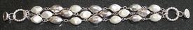 """Arte d'Argento 8"""" Sterling Multi-strand Nugget Bracelet 34.0 grams .925 sterling silver"""