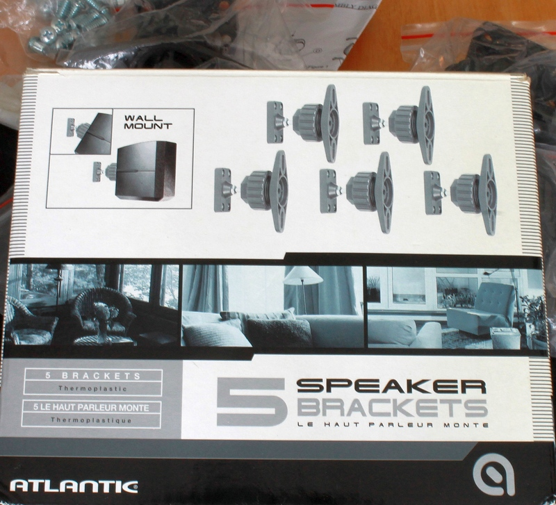 Atlantic 5 Wall Mount Thermoplastic Speaker Brackets support up to 10 lbs. each