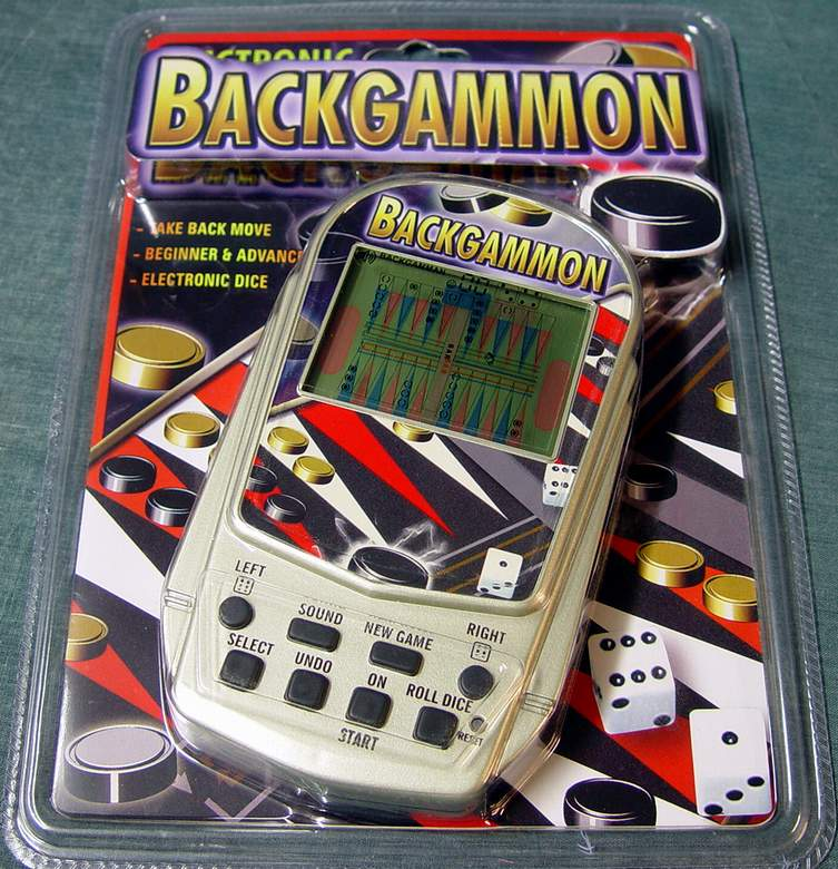 Backgammon Electronic Handheld Game