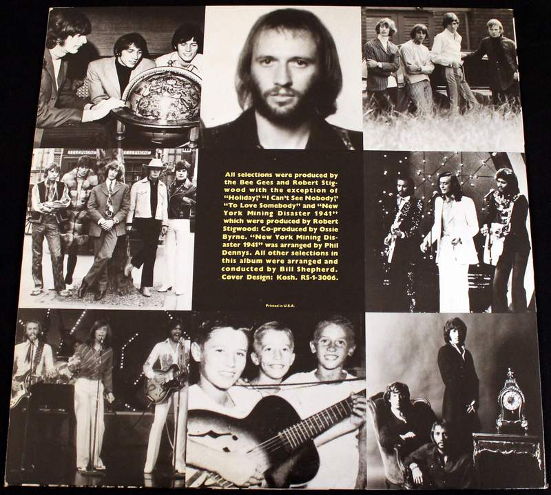 Bee Gees Gold LP Inner Sleeve Opposite Side