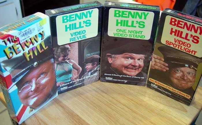 Benny Hill NEW 4-Tape Set VHS