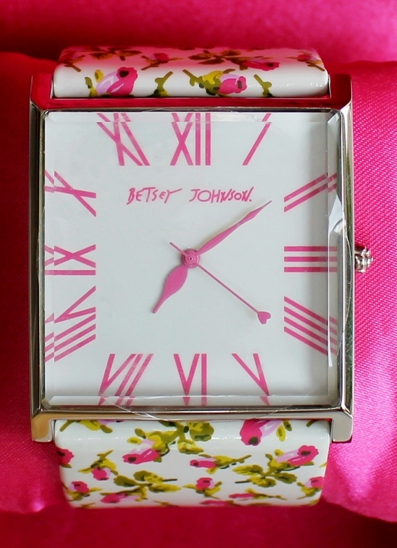 Betsey Johnson Ladies Glam Girl Square Faced Fashion Watch BJ2103 New in Box with Tags