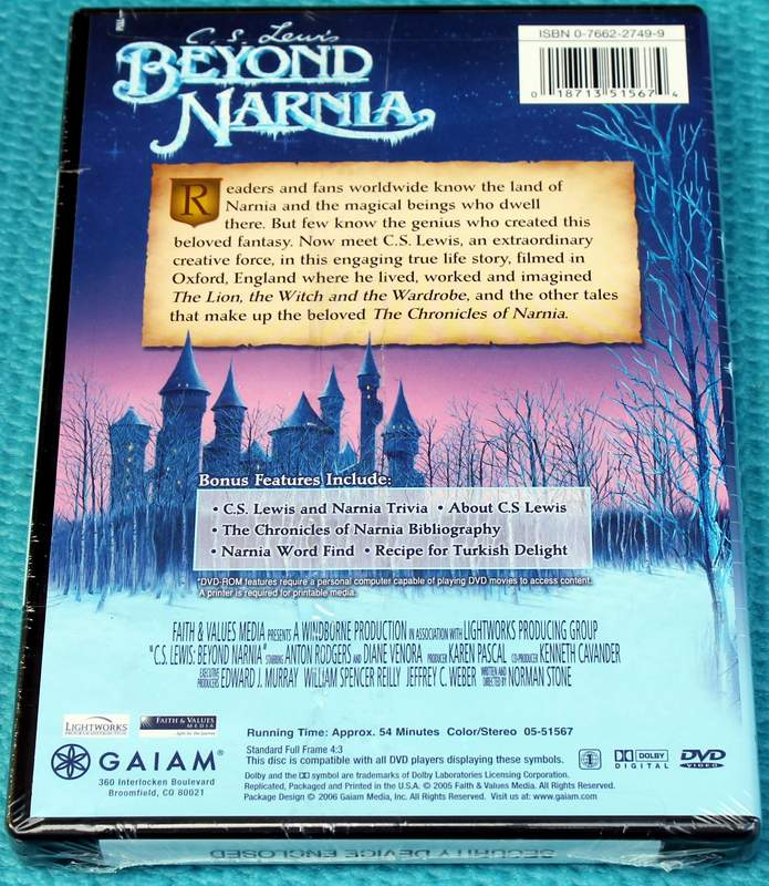 Rear Cover: C.S. Lewis: Beyond Narnia (2006) Brand New Sealed DVD