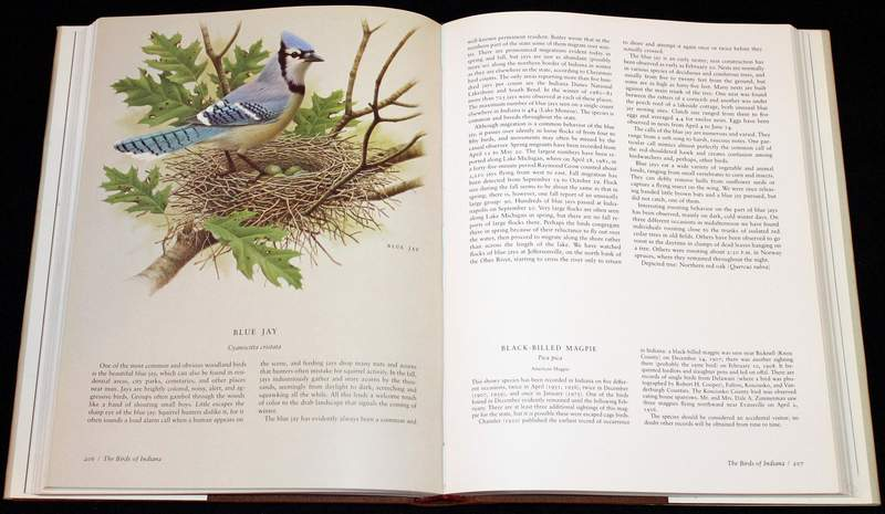The Birds of Indiana (1984 large hardcover inside view)