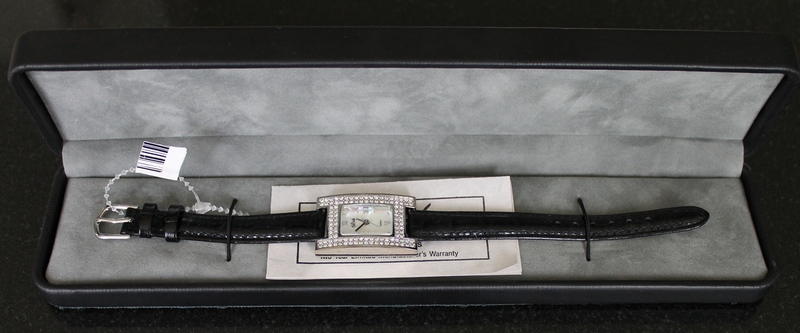 Bob Mackie Double Row Faux Diamonds Quartz Watch (Japan Movement)