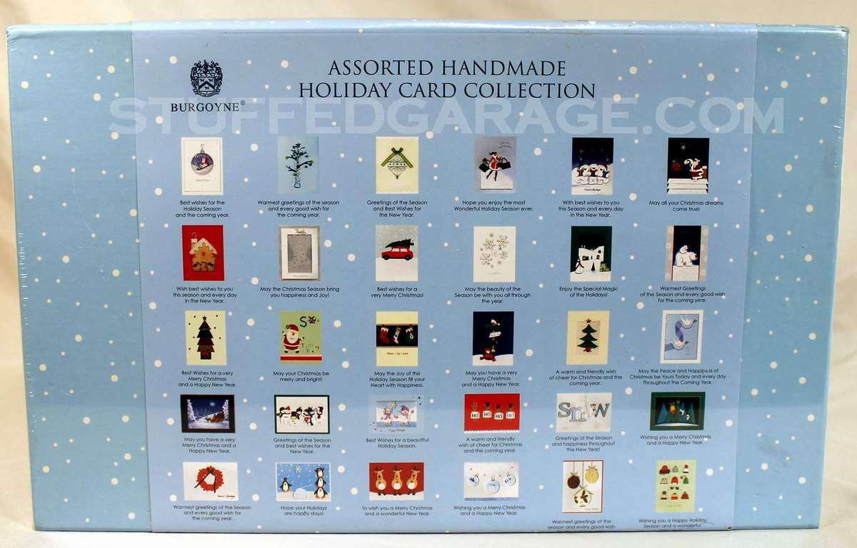 Burgoyne 30 Elegant Hand Crafted Holiday Cards With Envelopes ...