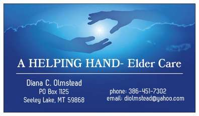 A Helping Hand Elder Care. In Home Personal and Health Assistance, Cleaning, Organizing, Errands, Companionship and Personal Assistance