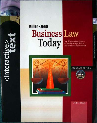 Business Law Today - Standard Ed. 6th Edition