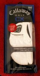 Pair (2) Callaway CX Men's Golf Gloves Regular-Left