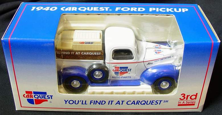 1940 CARQUEST Ford Pickup Truck Die Cast Metal Truck / Coin Bank - New in Box 3rd in a Series