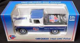 1960 CARQUEST GMC Pickup Truck 5th in a Series Die Cast Metal Truck / Coin Bank - New in Box