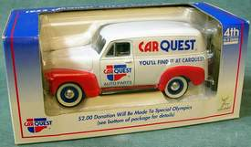 CARQUEST 1952 Chevy Panel Delivery Truck Die Cast Metal Truck / Coin Bank 4th in a Series