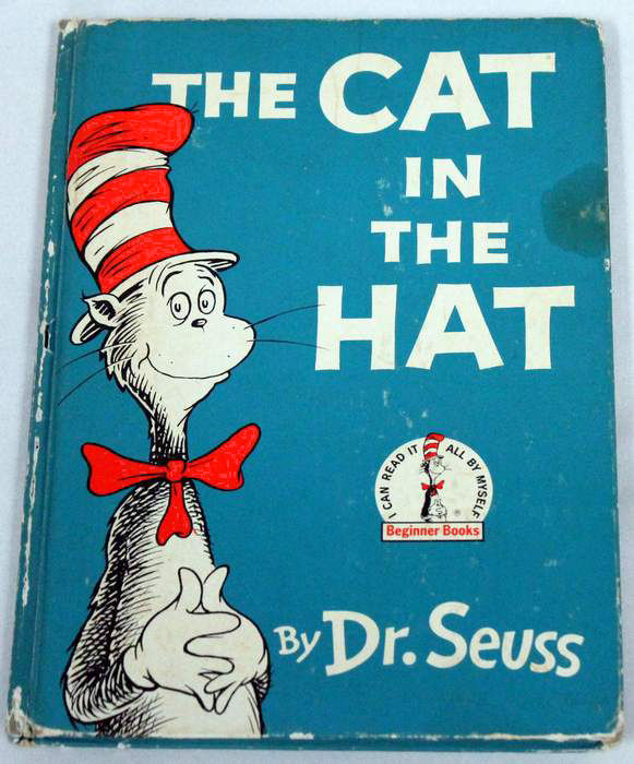 The Cat in the Hat First Edition 1957 Dr. Seuss Hard Cover