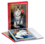 2 sets of Barnes & Noble Cat with Heart Notelet Set of 10 cards and envelopes each