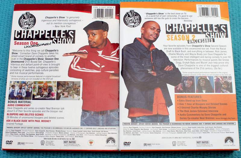 Rear View: Chappelle's Show - Seasons 1 & 2 Uncensored DVD Sets