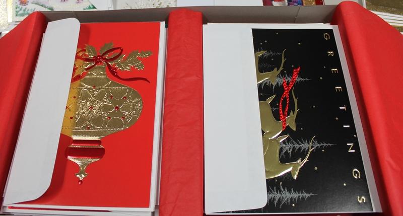 Christmas cards from Hallmark, Burgoyne, Thomas Kinkade, Image Arts, Paper Magic, Plus Mark, Abbey Press, Drawing Board, Executive Greetings, Empress Greetings, DaySpring, Grand Award, Sunshine Art Studios, Fantus, Holly Ridge, Yuletide Traditions, Creative Presence, NuArt and many, many others.