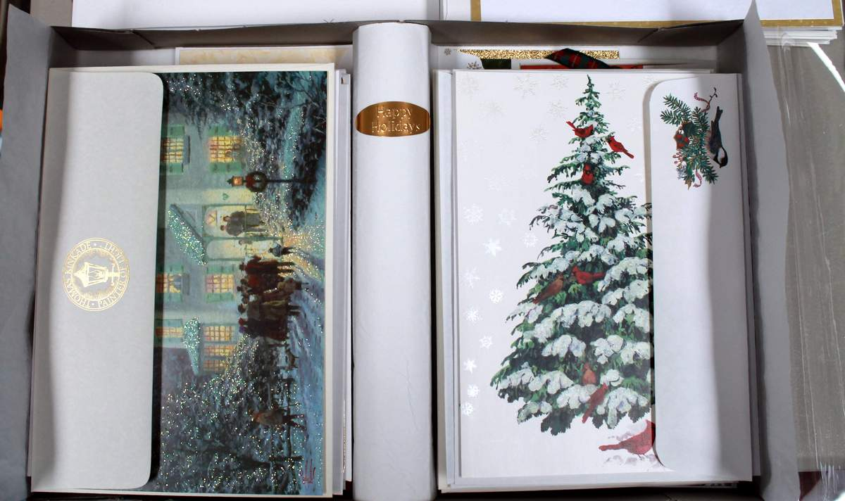 Premium christmas cards with envelopes boxed christmas cards from hallmark burgoyne thomas kinkade lang image arts paper m4hsunfo