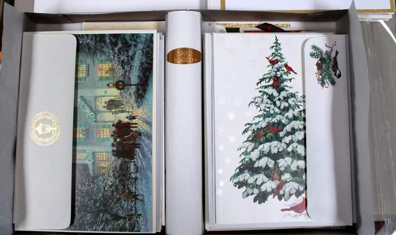 Christmas cards from Hallmark, Burgoyne, Thomas Kinkade, Lang, Image Arts, Paper Magic, Plus Mark, Abbey Press, Drawing Board, Executive Greetings, Empress Greetings, DaySpring, Grand Award, Sunshine Art Studios, Fantus, Holly Ridge, Yuletide Traditions, Creative Presence, NuArt and many, many others.