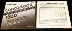 "2 New Boxes of Radio Shack Concertape 1800' each of Reel-to-Reel Recording Tape on 7"" reels New - Sealed in the original boxes"