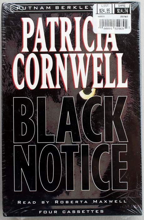 Black Notice (Kay Scarpetta) by Patricia Cornwell on 4 Audio Cassettes
