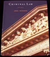 Criminal Law by Joel Samaha (2nd edition 2008)