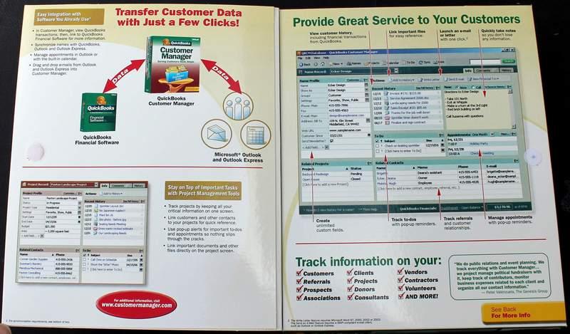 QuickBooks Customer Manager for Windows Version 2.0