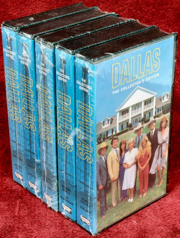 DALLAS the TV Series The Collector's Edition Columbia House 5 VHS Tapes - NEW - Sealed in Shrinkwrap - Election and Survival; Double Wedding and Runaway; Digger�s Daughter and Lessons; Bar-B-Que and Reunion (part I); Reunion (part II) and Old Aquaintance