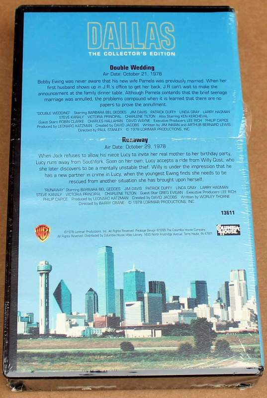 DALLAS The Collector's Edition Columbia House VHS - Double Wedding - Runaway