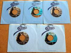 Lot of 5 Dan Fogelberg 45's in Original Sleeves Produced by Full Moon / Epic