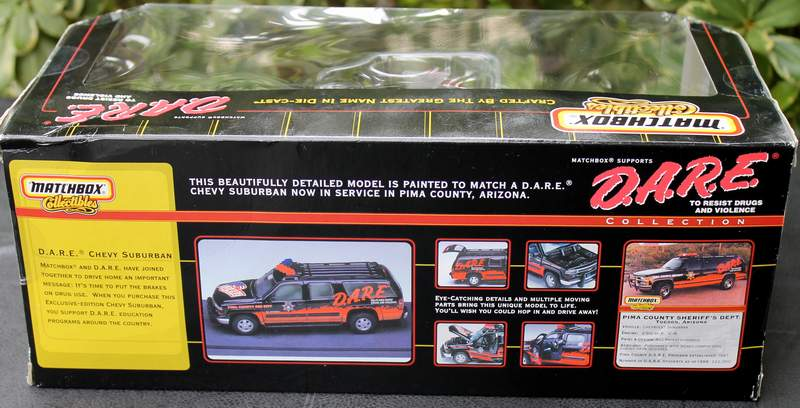 DARE Chevy Suburban Pima County Sheriff AZ Matchbox Collectibles #38255