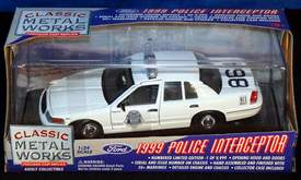 1999 Denver Patrol Police Interceptor Diecast Ford Crown Victoria Classic Metal Works 1/24 scale model
