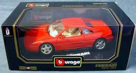 1989 Ferrari 348tb Bburago #3039 Diamonds Series 1:18 Scale Diecast Car
