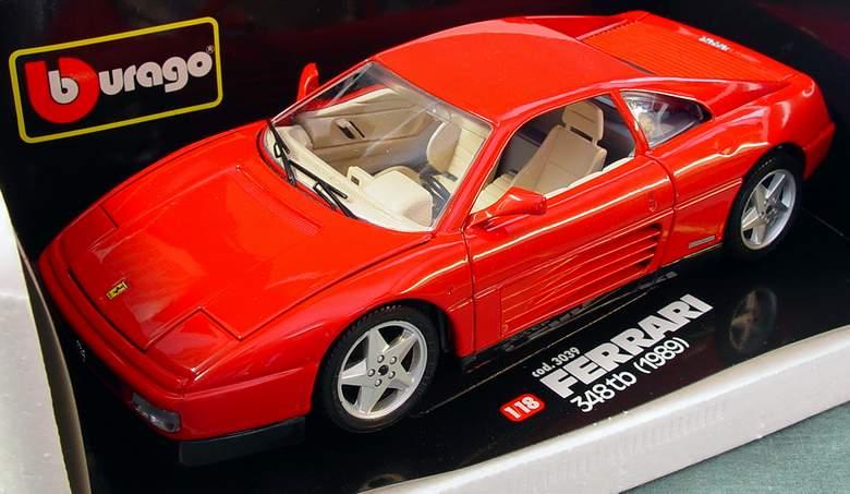 1989 Ferrari 348tb Bburago #3039 Diamonds Series 1:18 Scale Diecast ...