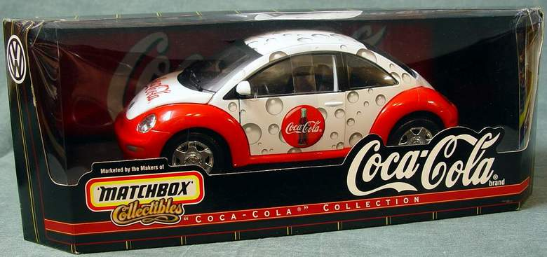 Coca Cola 1999 VW New Beetle Matchbox Collectibles 1:18 Scale