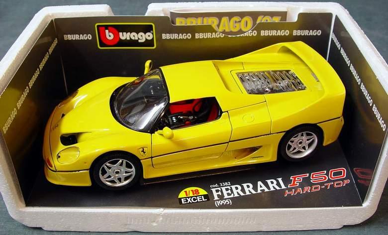 1995 Ferrari F50 Hard-Top Bburago Excel Line #3382 Die Cast 1:18 Scale