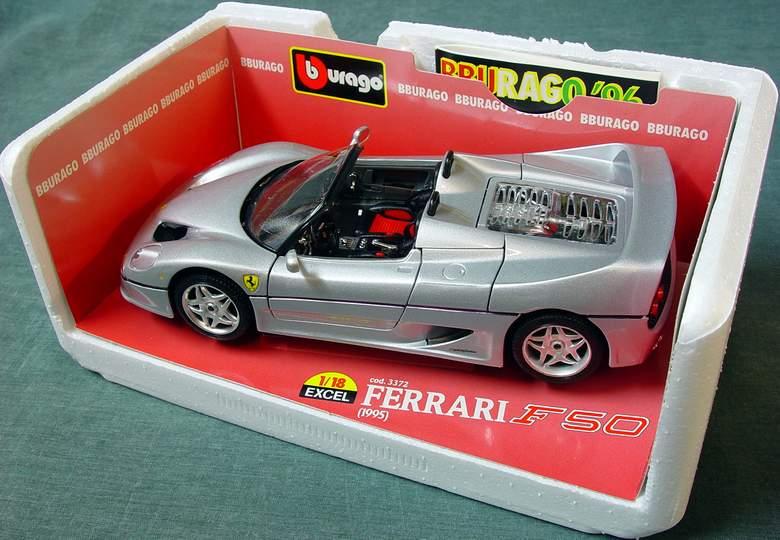 1995 Ferrari F50 Convertible Bburago #3372 EXCEL Series 1:18 Scale Diecast Car