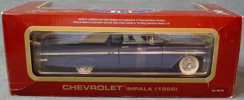 1959 Chevrolet Impala Convertible Road Legends 1:18 Scale Diecast